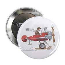 "Red Ski Plane 2.25"" Button"