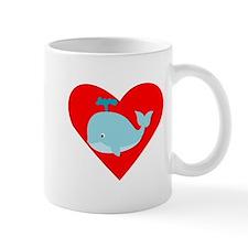 Blue Whale Heart Small Mug
