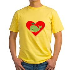 Blue Whale Heart T-Shirt