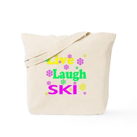 SportChick's SkiChick Live, Laugh, Ski Tote Bag