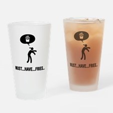 French Fries Lover Drinking Glass