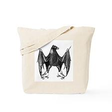 Derby Bat Black Tote Bag