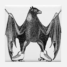 Derby Bat Black Tile Coaster