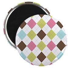 Pastel & Brown Argyle Magnet