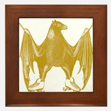 Derby Bat Ocher Framed Tile
