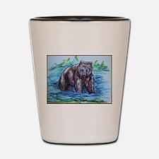 Bear, wildlife art Shot Glass