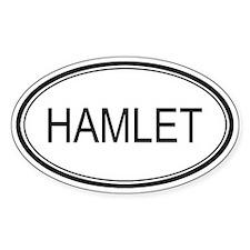 Hamlet Oval Design Oval Bumper Stickers