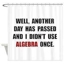 Algebra Once Shower Curtain