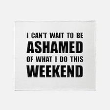 Ashamed Throw Blanket