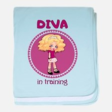 DIVA in training baby blanket