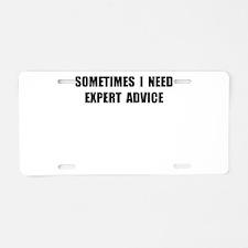 Expert Advice Aluminum License Plate