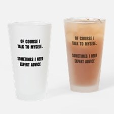 Expert Advice Drinking Glass