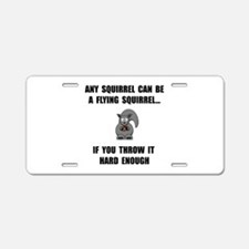 Flying Squirrel Aluminum License Plate