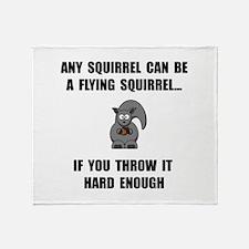 Flying Squirrel Throw Blanket