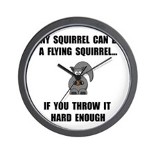 Flying Squirrel Wall Clock