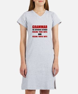 Grammar Nuts Women's Nightshirt