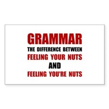 Grammar Nuts Decal