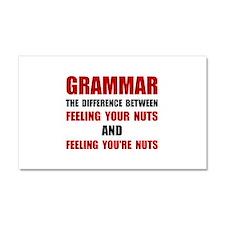 Grammar Nuts Car Magnet 20 x 12