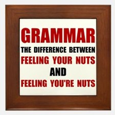 Grammar Nuts Framed Tile