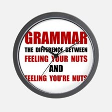 Grammar Nuts Wall Clock