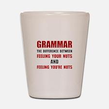 Grammar Nuts Shot Glass