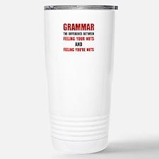 Grammar Nuts Travel Mug