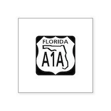 A1A Florida Rectangle Sticker
