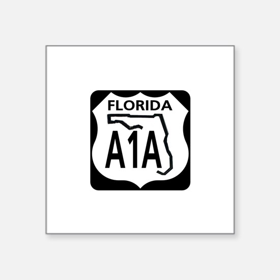A1A Florida Rectangle Sticker