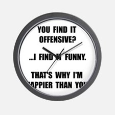 Offensive Happy Wall Clock