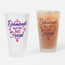 Diamonds Drinking Glass