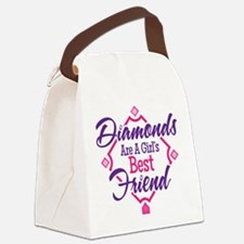 Diamonds Canvas Lunch Bag