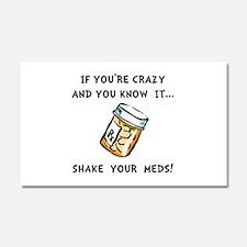 Shake Meds Car Magnet 20 x 12