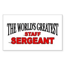 """The World's Greatest Staff Sergeant"" Decal"