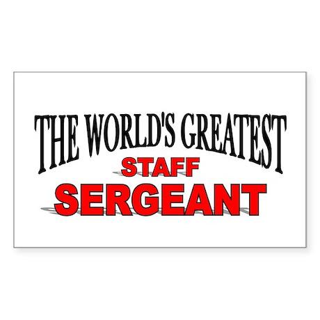 """The World's Greatest Staff Sergeant"" Sticker (Rec"