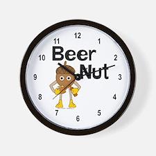 Beer Nut Text Wall Clock