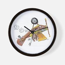 Hands Free Biplane Wall Clock