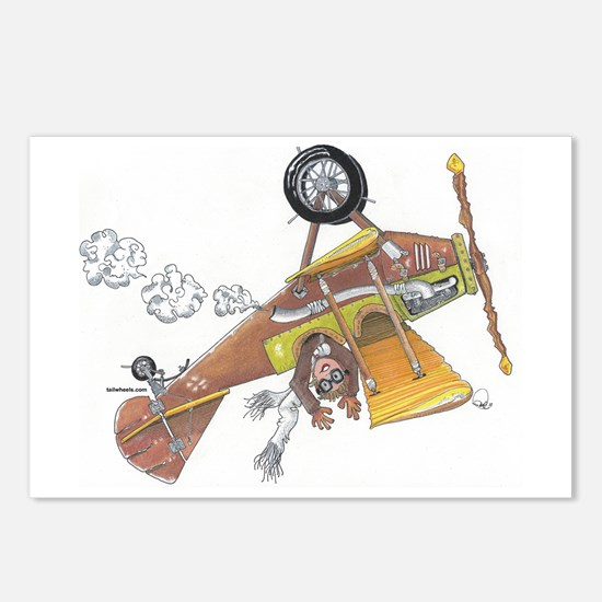 Hands Free Biplane Postcards (Package of 8)