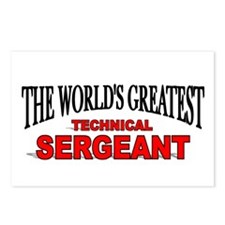 """The World's Greatest Technical Sergeant"" Postcard"