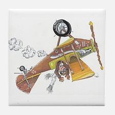 Hands Free Biplane Tile Coaster