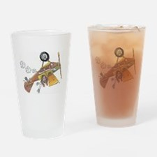 Hands Free Biplane Drinking Glass