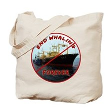 End Whaling Forever Tote Bag