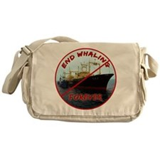 End Whaling Forever Messenger Bag