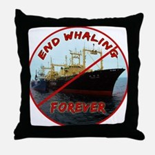 End Whaling Forever Throw Pillow