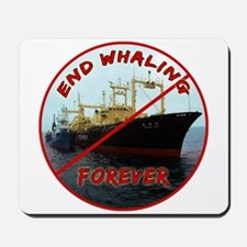 End Whaling Forever Mousepad