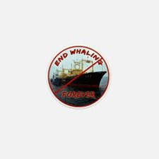 End Whaling Forever Mini Button