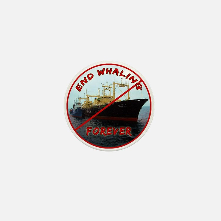 End Whaling Forever Mini Button (100 pack)