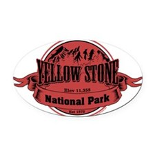 yellowstone 2 Oval Car Magnet