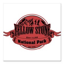 """yellowstone 1 Square Car Magnet 3"""" x 3"""""""