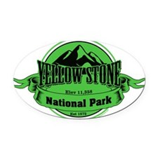 yellowstone 4 Oval Car Magnet