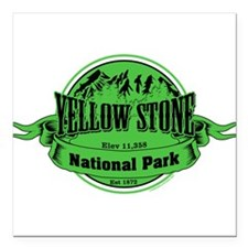"""yellowstone 2 Square Car Magnet 3"""" x 3"""""""